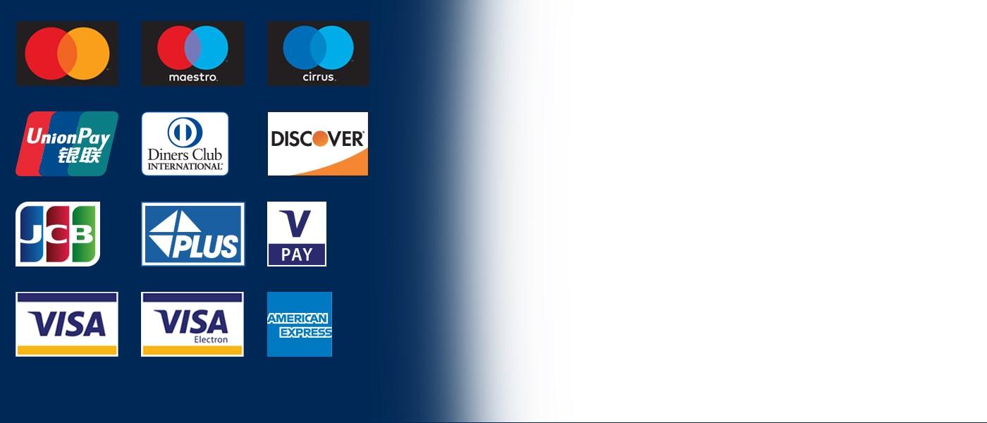 Euronet Bankomaten akzeptieren alle gängigen Debit- und Kreditkarten